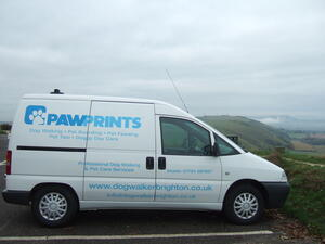 Paw Prints Dog Walker Van | Pet Taxi